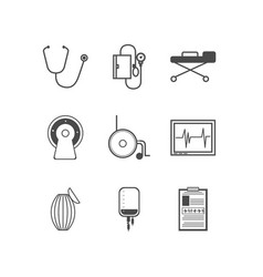 Black icons for resuscitation vector image