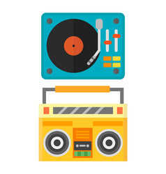 dj music mixer equipment channels discotheque vector image