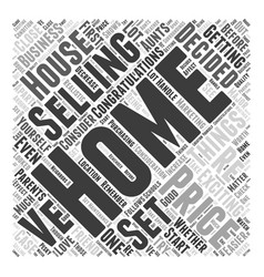 Home selling prices word cloud concept vector