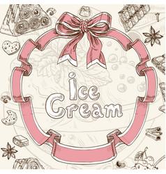 Ice cream sweet background vector image vector image