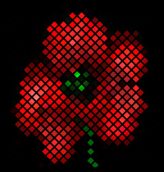 Mosaic background with red poppy flower vector image