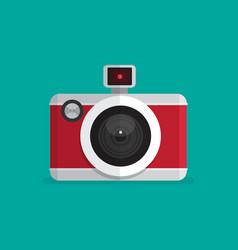 Retro Camera icon Flat style vector image vector image