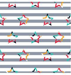 striped star camo boy seamless pattern vector image