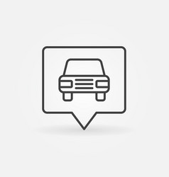 car in square pointer vector image vector image