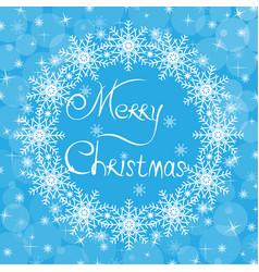 christmas blue card vector image