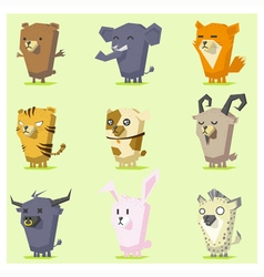 Cute Animals Icon Set 4 vector image vector image