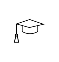 end of education mortarboard icon vector image