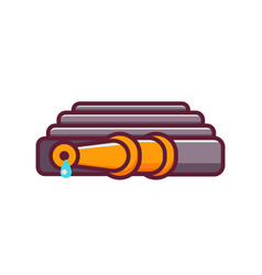 Hosepipe or fire hose icon vector