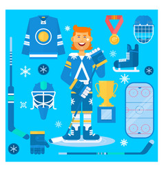 isolated hockey uniform equipment and vector image vector image