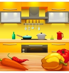 Kitchen Table vector image