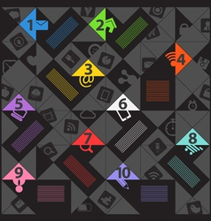 Modern color social media content template vector image vector image