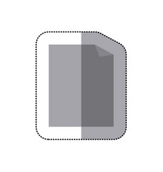 sticker grayscale silhouette with paper sheet vector image