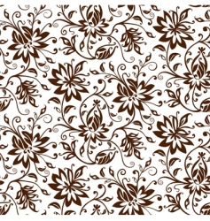 textile floral background vector image vector image