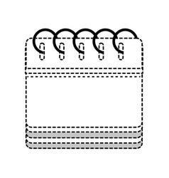 dotted shape calendar information to organizer vector image vector image