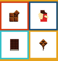 Flat icon chocolate set of shaped box delicious vector