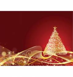 golden Christmas vector image vector image