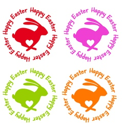 Happy Easter bunny with heart vector image