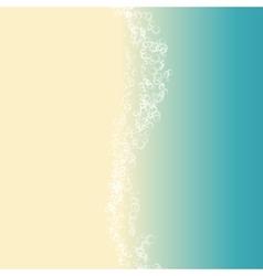 landscape of beach vector image