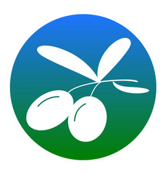 olives sign white icon in vector image