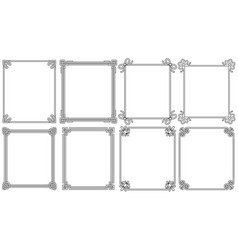 ornamental corners different style vintage set vector image vector image