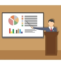 Training staff meeting report business school vector image vector image