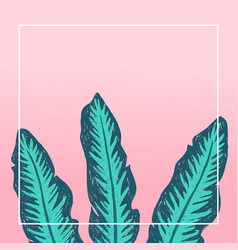 tropical background design banana leaves vector image vector image