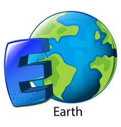 A letter E for Earth vector