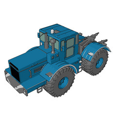 A tractor vehicle cartoon or color vector