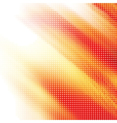 Abstract red-yellow halftone background vector