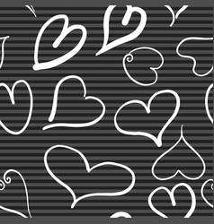 abstract seamless pattern with white hearts and vector image