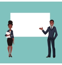 African American businessman and businesswoman vector image