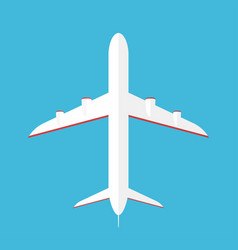 Airplane in the sky commercial in bottom vector