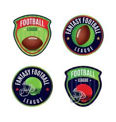 american fantasy football league badges vector image