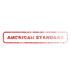 American standard rubber stamp vector