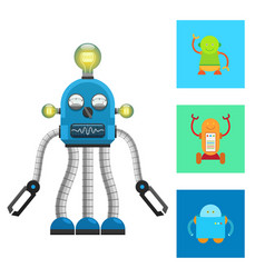 Artificial robot and creatures vector