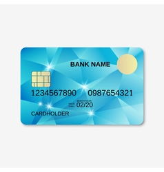 Bank card credit card discount card design vector image