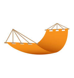 beach hammock icon realistic style vector image