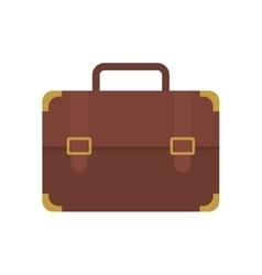 brown portfolio suitcase travel business vector image