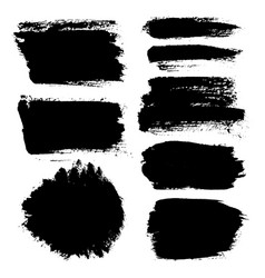 Brush strokes set 14 vector
