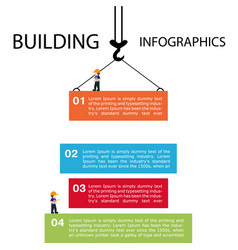 building of infographics template construction vector image