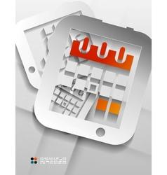 calendar organizer paper design vector image