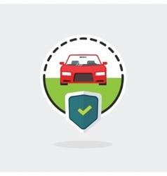 Car insurance logo automobile protected vector