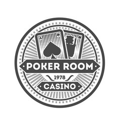 casino poker room isolated label vector image