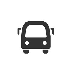 City bus front view glyph style icon vector