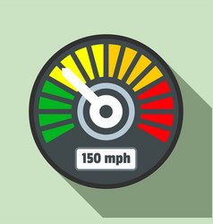 colorful speedometer icon flat style vector image