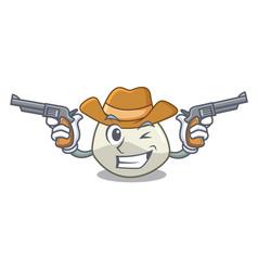 Cowboy character cartoon homemade organic vector
