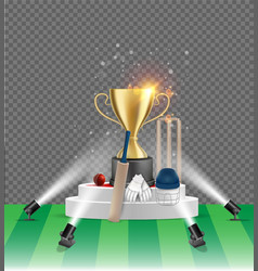 cricket championship poster design template vector image