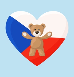 Czech Teddy Bears vector image