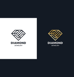 diamond logotype template positive and negative vector image