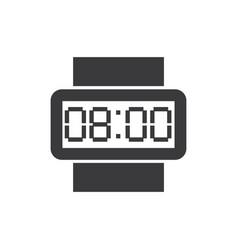 digital wristwatch icon vector image